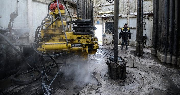 Plataforma petrolera en el campo de Vankorskoye (región de Krasnoyarsk)