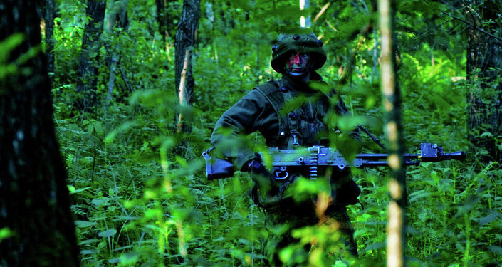 Un soldado lituano durante los ejercicios de la OTAN Saber Strike-2015