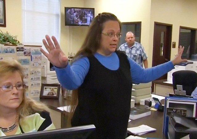 Kim Davis, la funcionaria judicial
