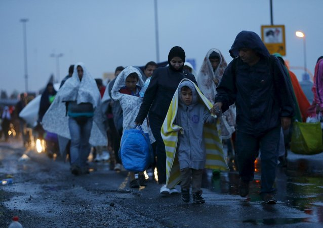 Migrantes en la frontera austro-húngara, 5 de septiembre de 2015