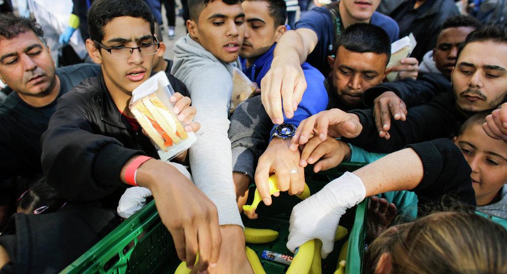 Unos inmigrantes en Alemania