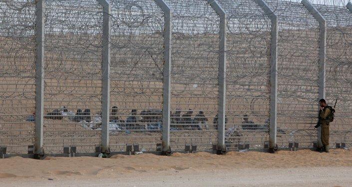 Frontera entre Israle y Egipto (archivo)