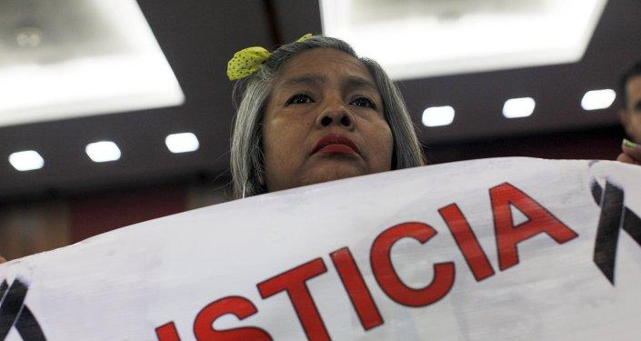 Berta Nava, la madre de uno de los estudiantes desaparecidos en Ayotzinapa