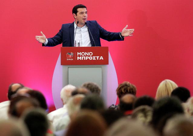 Alexis Tsipras, exprimer ministro de Grecia