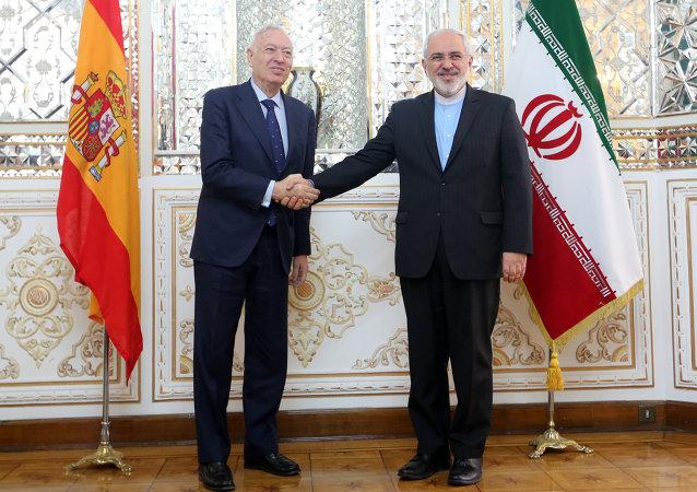 El ministro español de Asuntos Exteriores, José Manuel García-Margallo, y su homólogo iraní, Mohammad Javad Zarif (Archivo)