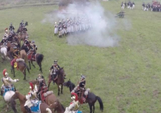 Reconstrucción de la batalla de Borodinó