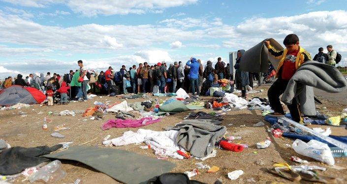 Migrantes en Hungría