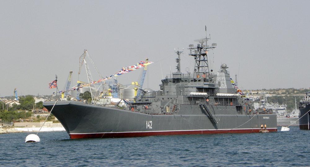 Buque ruso de la Flota del Mar Negro 'Novocherkassk'