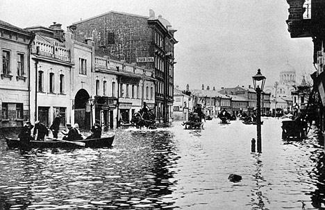 La riada de 1908 en Moscú