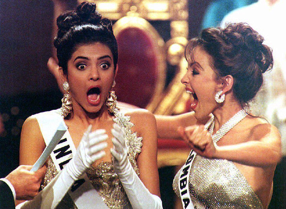 Sushmita Sen es una modelo hindú y actriz de Bollywood, vencedora del concurso Miss Universo de 1994 y primera representante de la India en recibir este título
