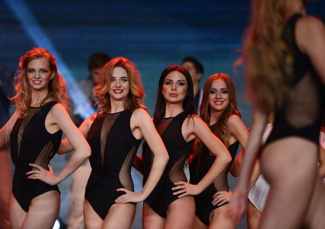 Participantes del concurso de belleza Miss Moscú 2014