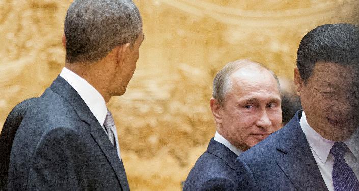 Barack Obama, Vladímir Putin y Xi Jinping (Archivo)