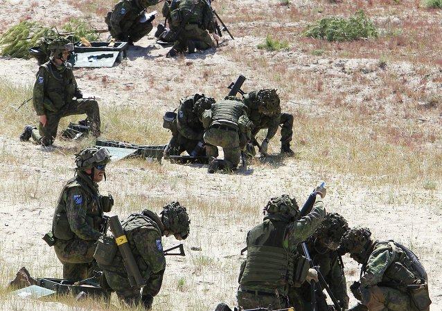 Soldados de la OTAN durante los ejercicios Baltops (archivo)