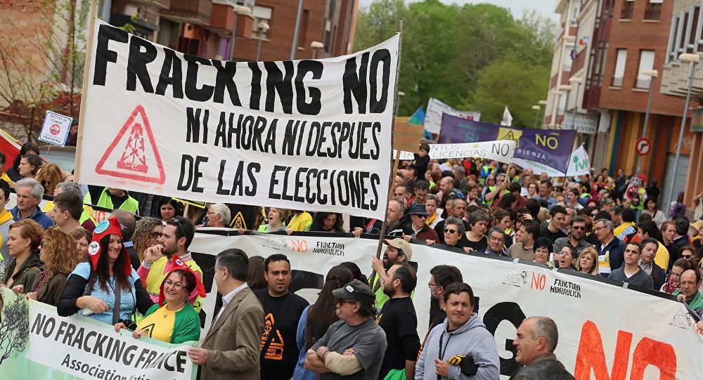 Demostraciones contra el 'fracking' en el norte de España