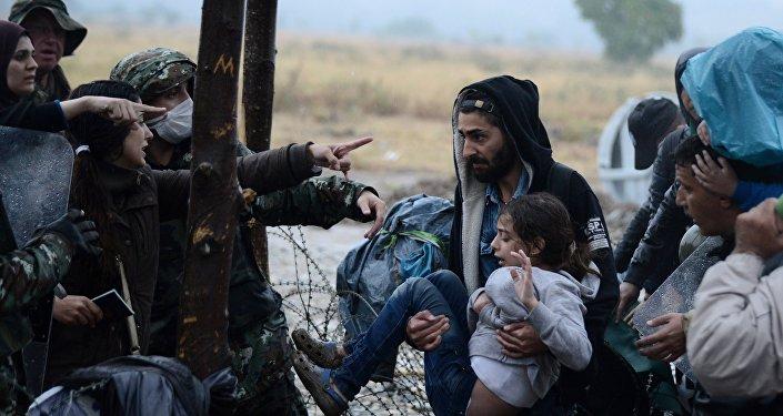Inmigrantes ilegales en Macedonia