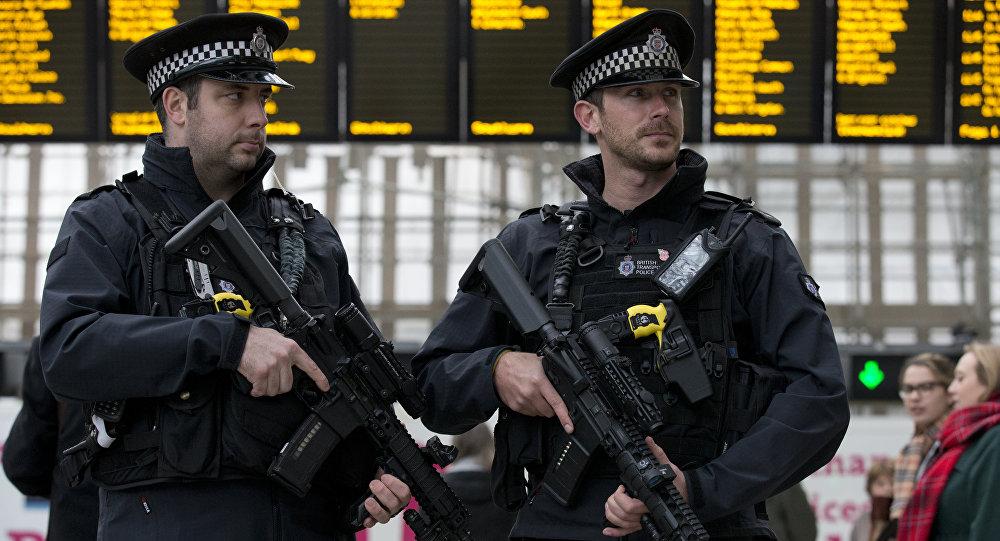 Policías britañicos durante la Semana Antiterrorista en Londres (archivo)