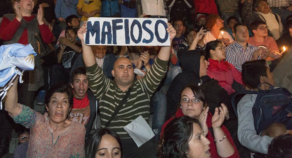 Protesta contra el fraude durante las elecciones en Tucumán, el 25 de agosto, 2015