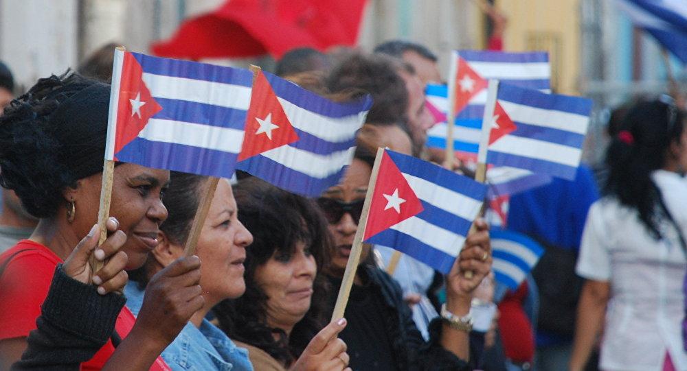 Демонстрация на улицах Гаванны