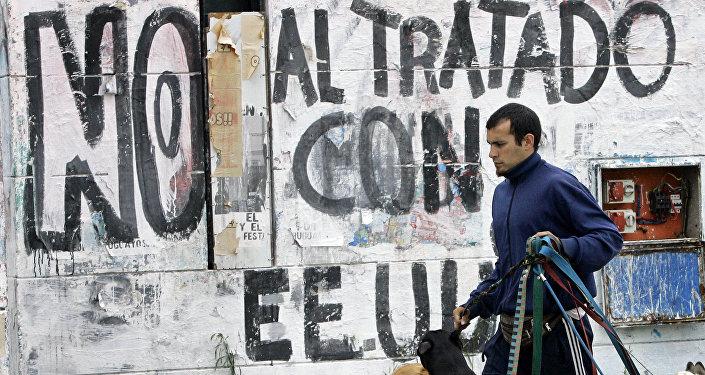 Un grafiti en Montevideo (Archivo)