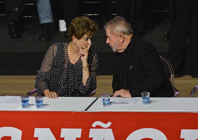 La expresidenta de Brasil Dilma Rousseff y el expresidente Luiz Inacio Lula da Silva