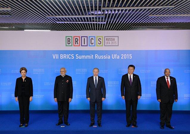 Líderes de los países miembros de los BRICS