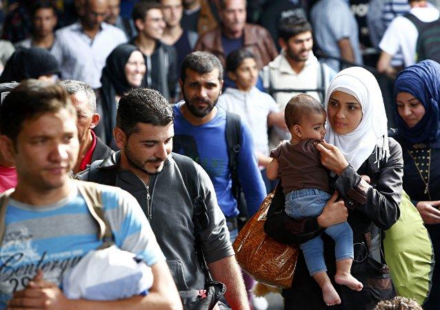 Refugiados llegan a Alemania