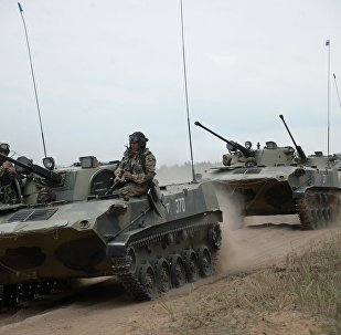 Maniobras conjuntas de las tropas de los países miembros de la Organización del Tratado de Seguridad Colectiva