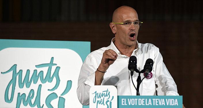 Raül Romeva, cabeza de lista de la candidatura Junts pel Sí