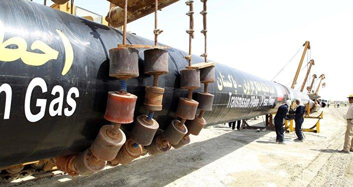 Construcción de gasoducto en Irán