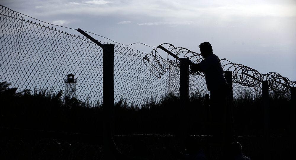 Construcción de una valla fronteriza entre Hungría y Serbia