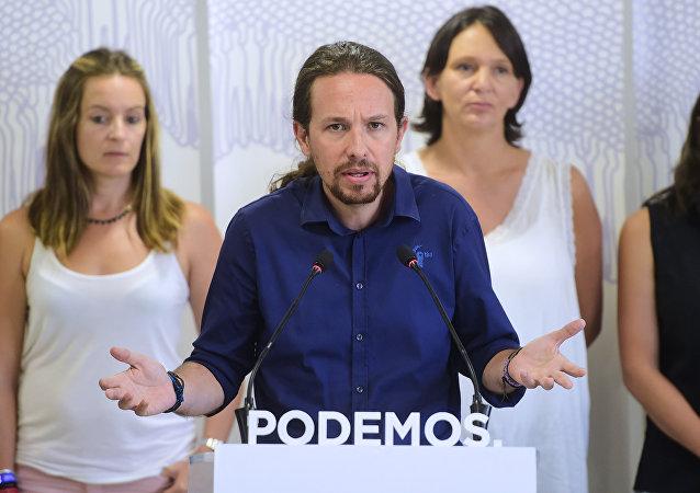 Pablo Iglesias, líder del partido Podemos