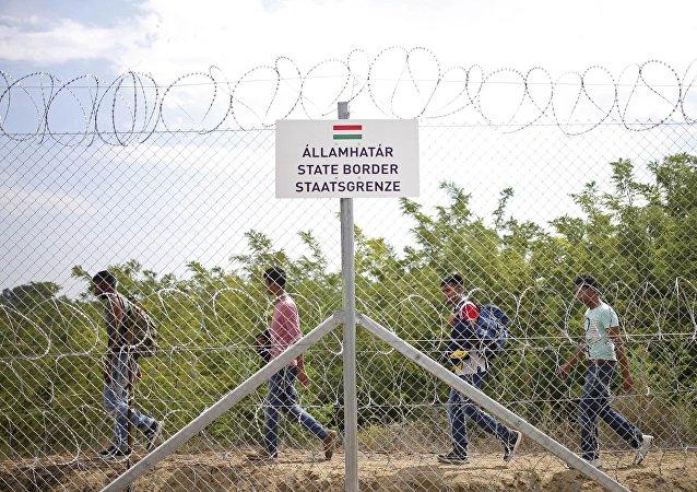 Frontera entre Hungría y Serbia
