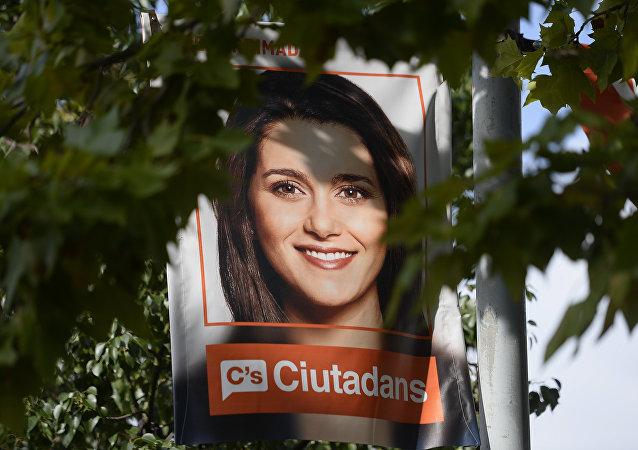 Cartel electoral de Inés Arrimadas en Barcelona