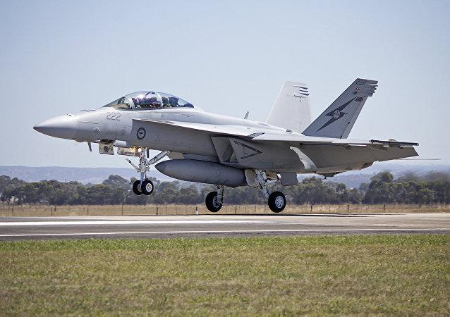 Caza F/A-18E/F Super Hornet de las Fuerzas Aéreas de Australia