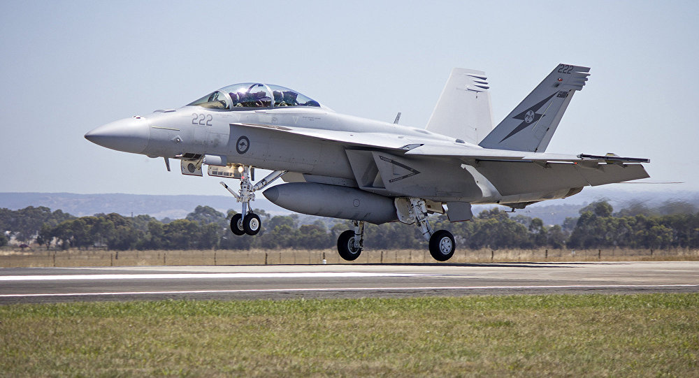 Caza F/A-18E/F Super Hornet de las Fuerzas Aéreas de Australia (archivo)