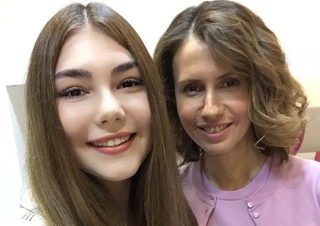 Mariana Naúmova y Asma Asad