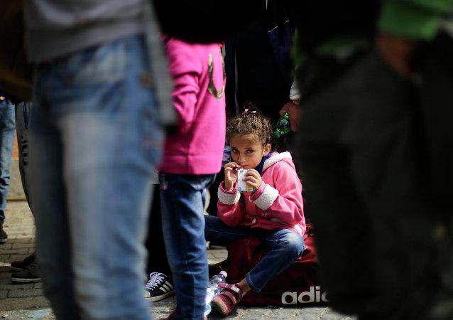 Refugiados en la estación ferroviaria