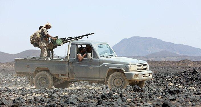 Soldados del gobierno yemení