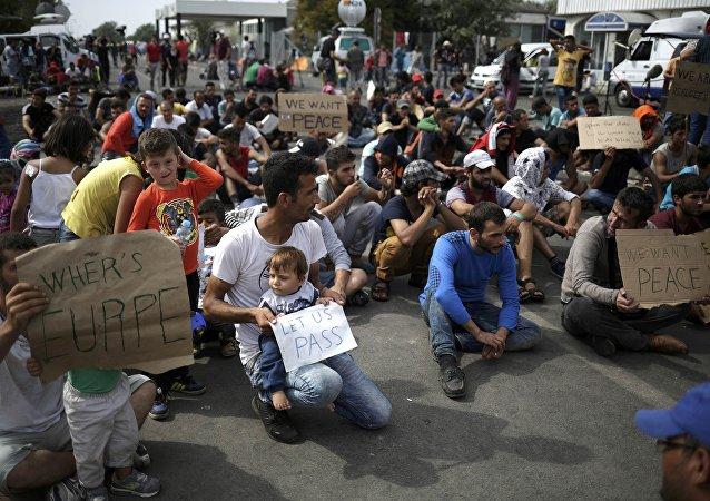 Migrantes en Serbia