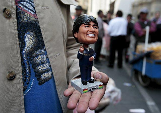 Estatuilla del presidente de Bolivia, Evo Morales