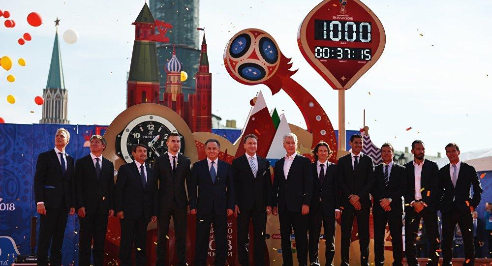 Reloj que marca los días que faltan para el inicio del Mundial 2018 en Rusia