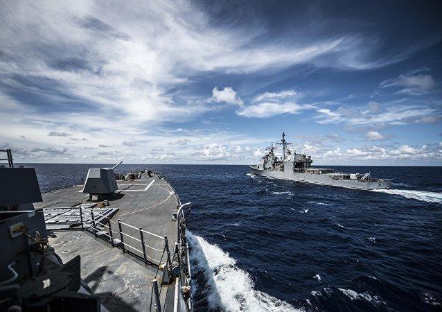 Buques estadounidenses en el mar de China Meridional (archivo)