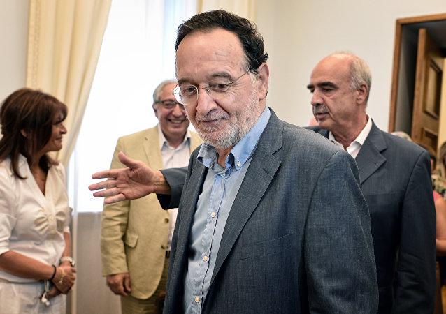 Panayotis Lafazanis, líder del nuevo partido Unidad Popular