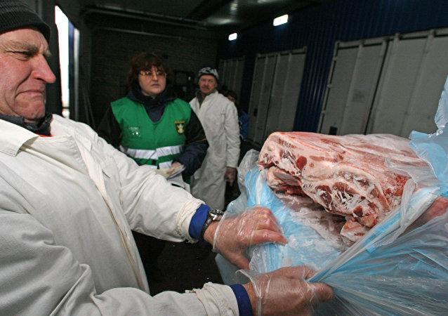 Carne importada (Archivo)