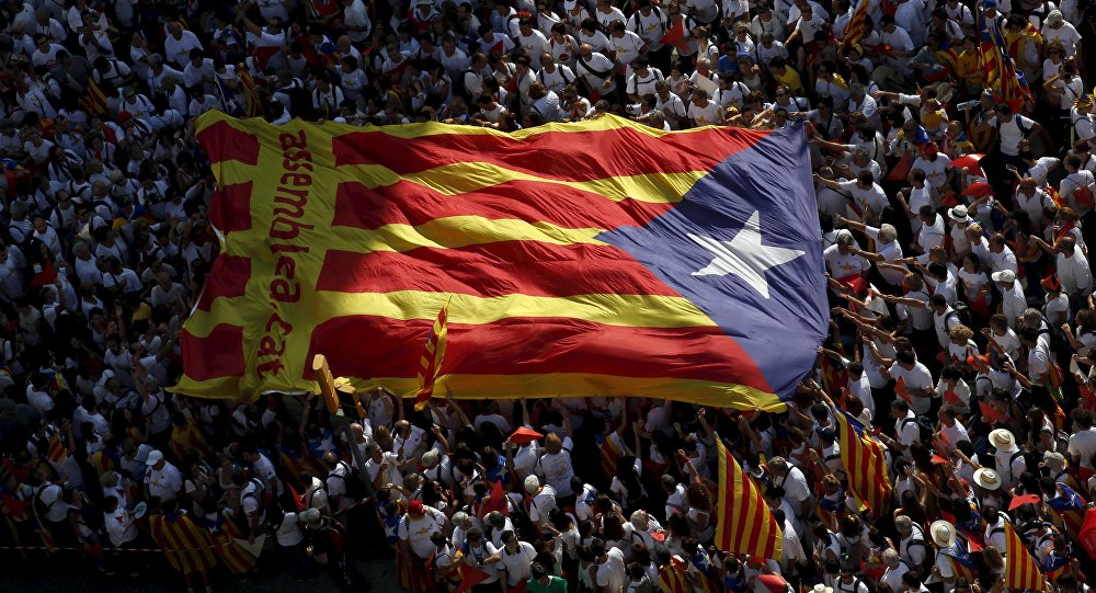 Demonstración Via Lliure en Barcelona