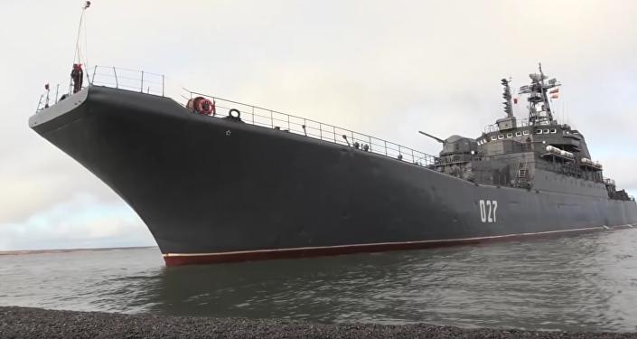 Maniobras de la Flota del Norte en el mar de Barents