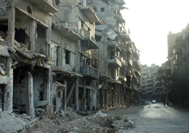 Consecuencias de los bombardeos en las afueras de Damasco