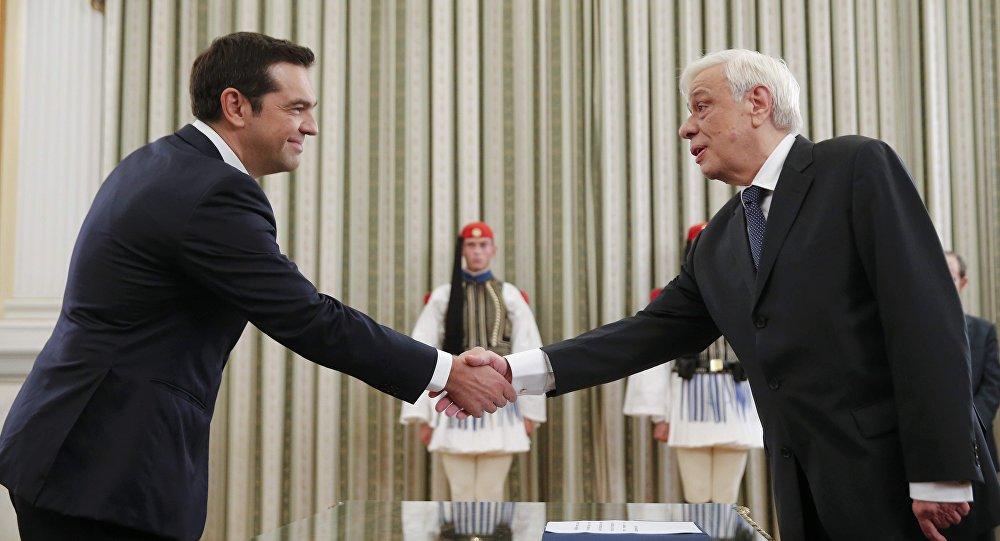 Alexis Tsipras y Prokopis Pavlópulos