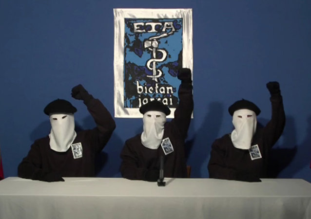 Masked members of the Basque militant group ETA