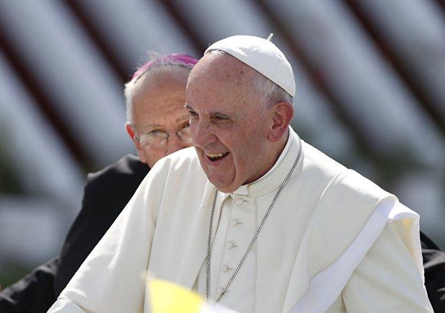Papa Francisco durante su visita a Cuba, el 21 de septiembre, 2015